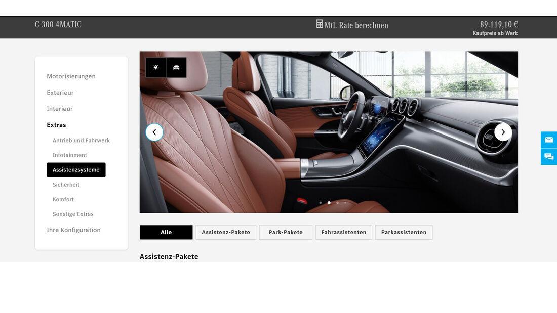Mercedes-Benz C-Klasse W 206 Konfigurator