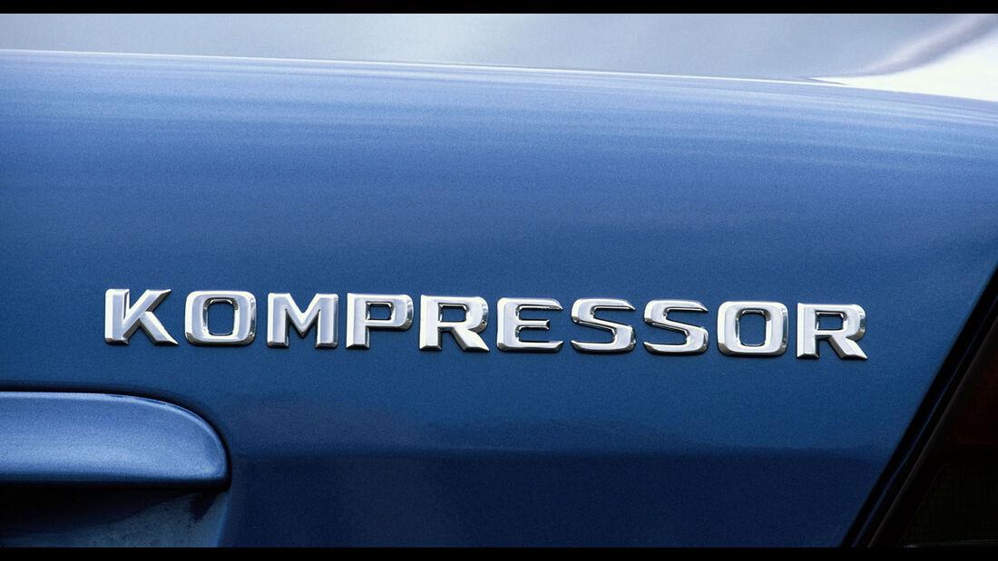 Mercedes-Benz C-Klasse W202 Schriftzug Kompressor
