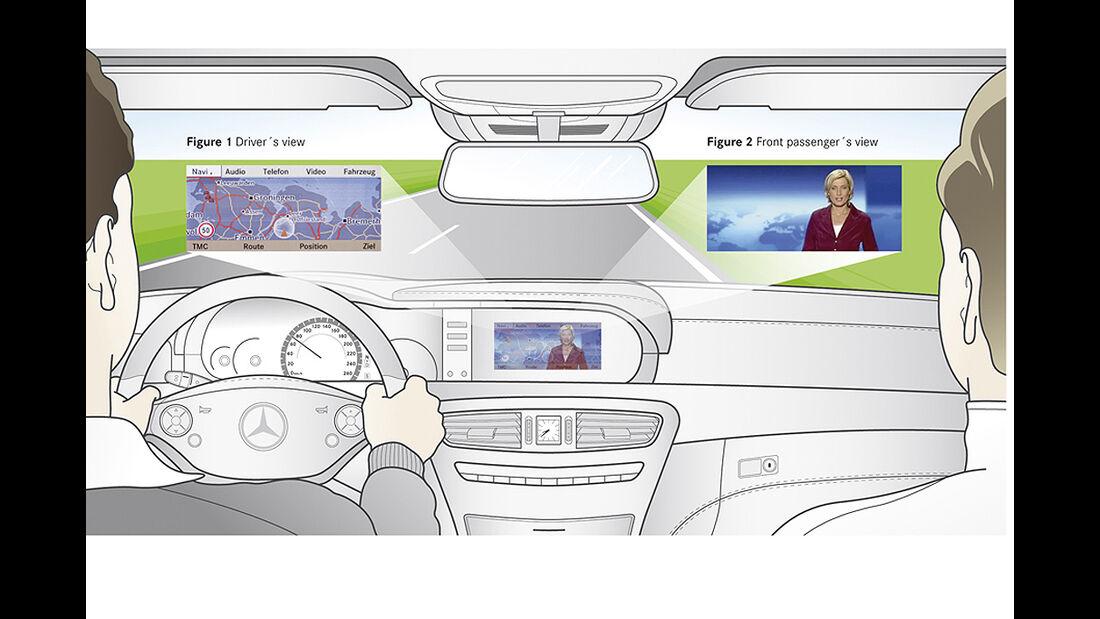 Mercedes-Benz CL 2010, Splitview Display, Luxus-Coupé