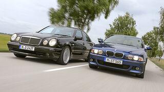 Mercedes-Benz E 55 AMG, BMW M5, Exterieur