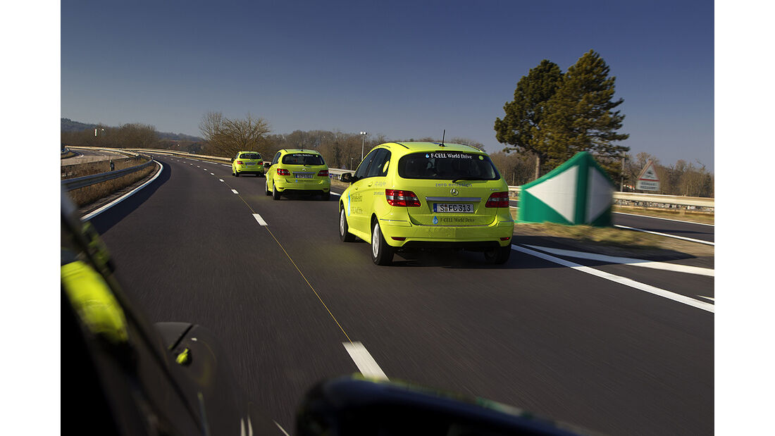 Mercedes-Benz F-Cell World Drive, Mercedes B-Klasse F-Cell