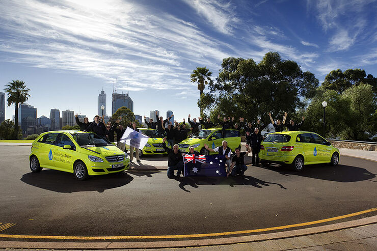 Mercedes-Benz F-Cell World Drive, Mercedes B-Klasse F-Cell, Tag 38, Perth