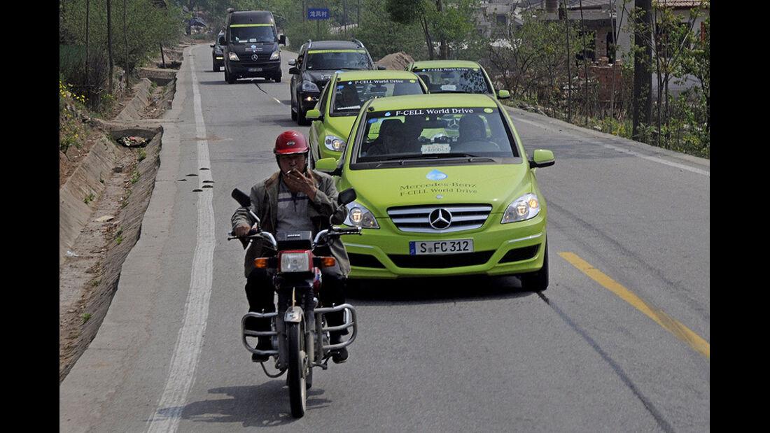 Mercedes-Benz F-Cell World Drive, Mercedes B-Klasse F-Cell, Tag 45, Xian-Lanzhou