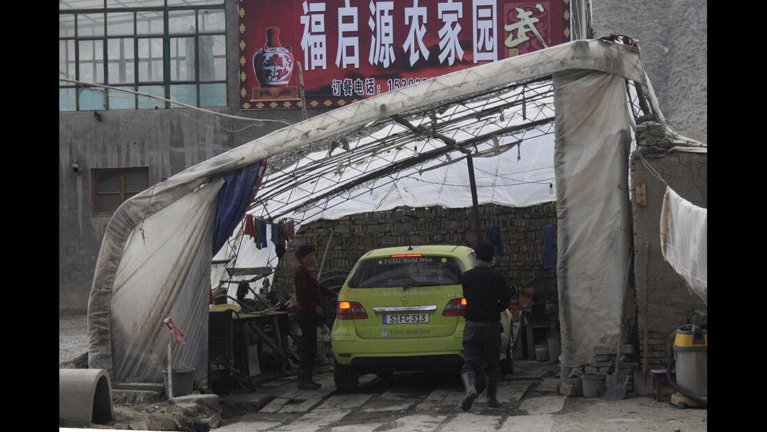Mercedes-Benz F-Cell World Drive, Mercedes B-Klasse F-Cell, Tag 46, Lanzhou-Wuwei