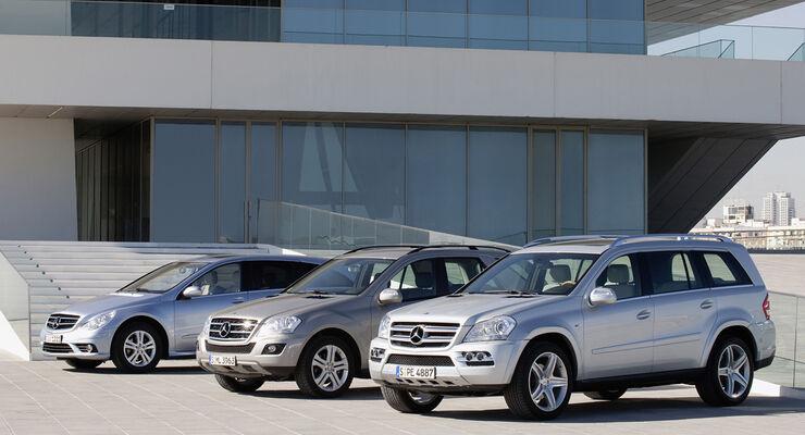 Mercedes Benz M-Klasse BlueTec, Mercedes Benz R-Klasse BlueTec, Mercedes Benz GL BlueTec