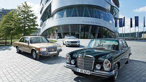Mercedes Benz S-Klassen W109, W116, W222.