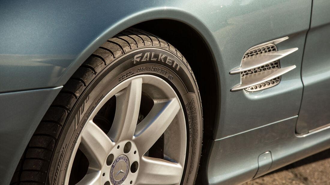 Mercedes-Benz SL, R 230, (2001-2011), Felge, Rad, Lüftungsgitter