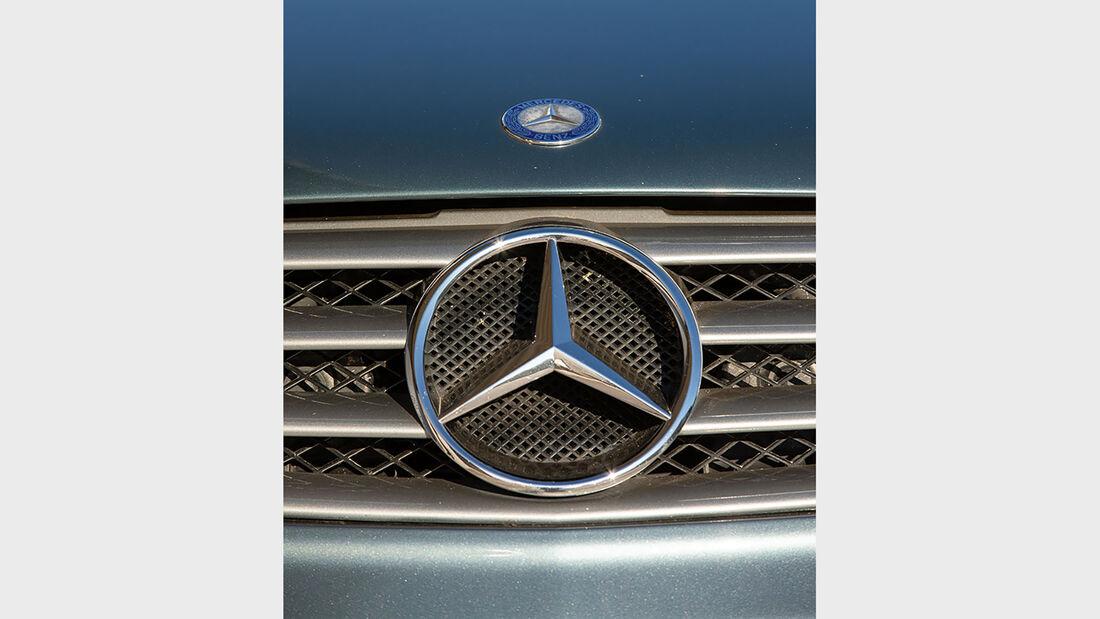Mercedes-Benz SL, R 230, (2001-2011), Kühler, Emblem