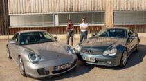 Mercedes-Benz SL, R 230, (2001-2011), Porsche 911, Typ 996 (1997-2004)