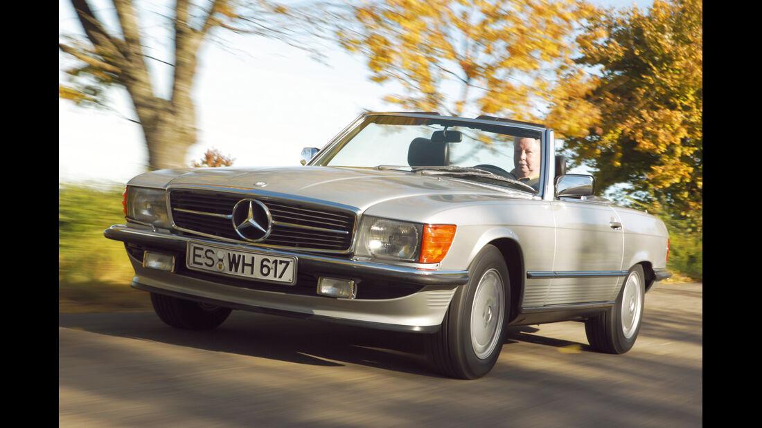 Mercedes-Benz SL (R107), Frontansicht