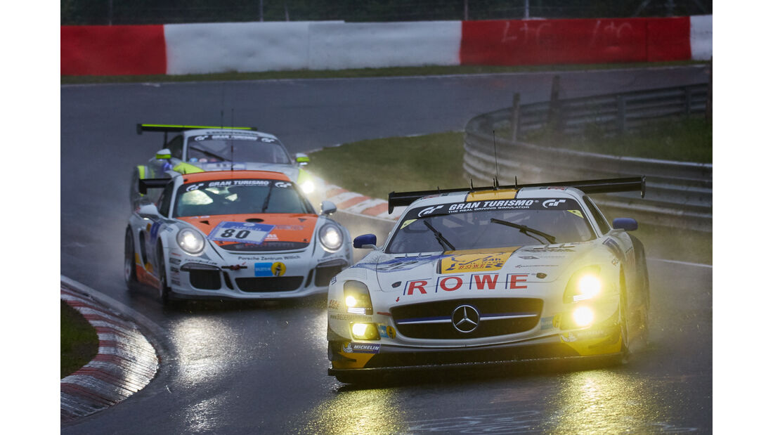 Mercedes-Benz SLS AMG GT3 - ROWE Racing - #22 - Maro Engel, Jan Seyffarth, Renger van der Zande, Thomas Jäger - 24h Nürburgring  - Donnerstag - 1. Qualifying - 14.5.2015