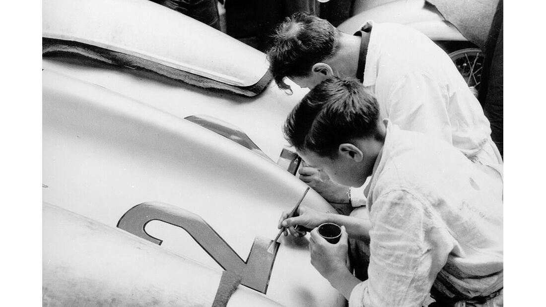 Mercedes-Benz Silberpfeile Startnummern
