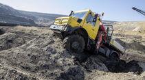 Mercedes-Benz Unimog hochgeländegängig Euro VI U 4023/U 5023 - Bau RWE Tagebau Gelände mit Kran