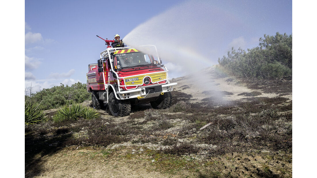 Mercedes-Benz Unimog hochgeländegängig Euro VI U 4023/U 5023 - Feuerwehr Waldbrandbekämpung Südfrankreich