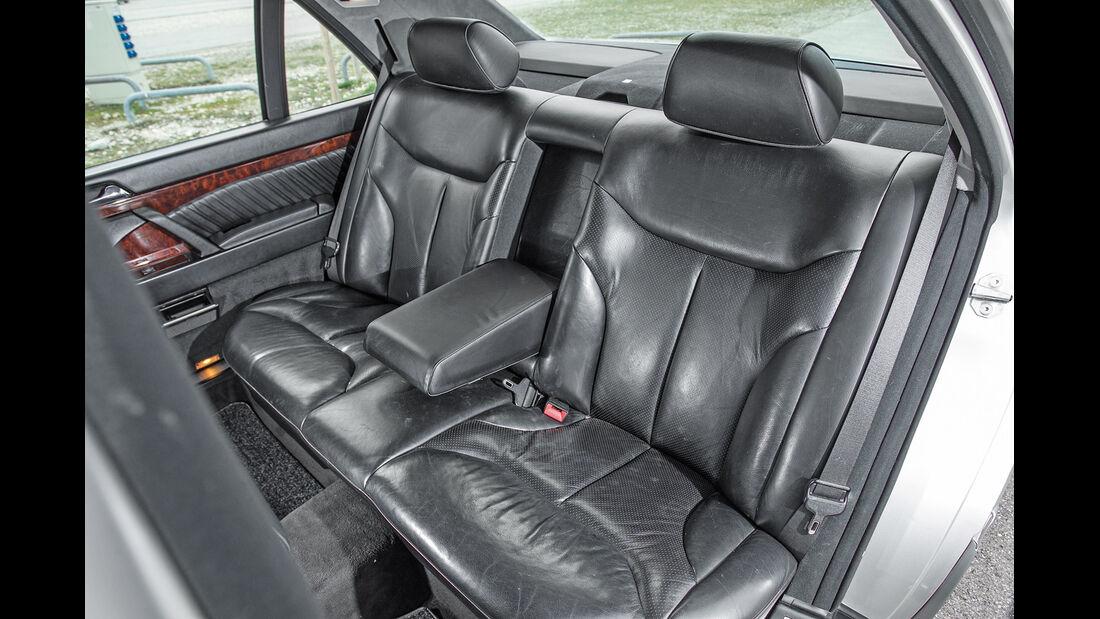Mercedes-Benz W140, V8/V12, Fondsitze, Beinfreiheit