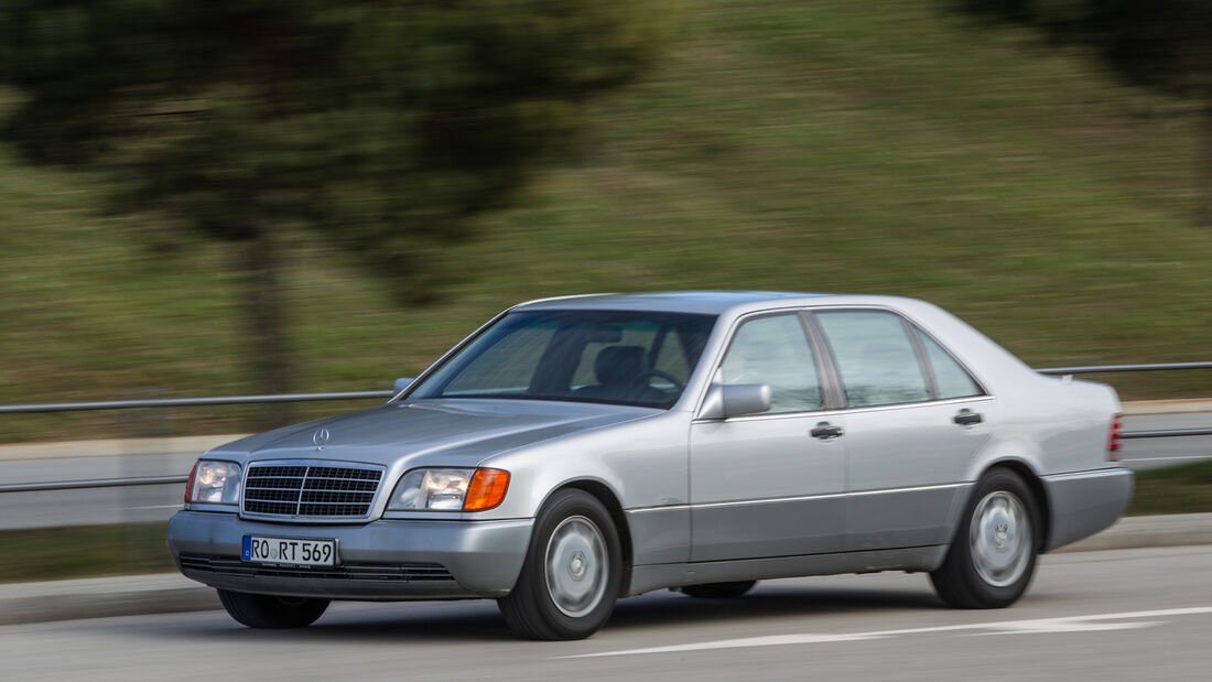 Mercedes-Benz W140, V8/V12, Seitenansicht
