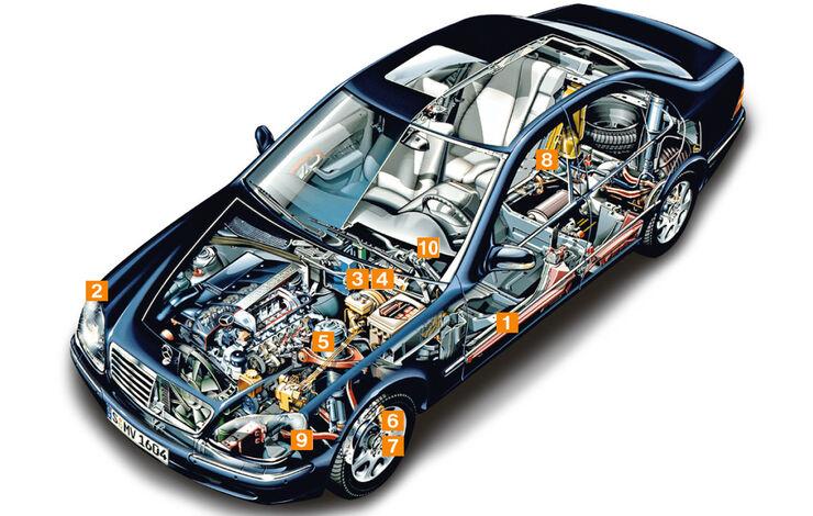 Mercedes-Benz W220, Schwachpunkte, Igelbild