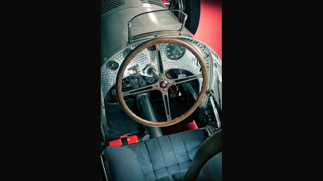 Mercedes-Benz W25, Silberpfeil, Cockpit, Lenkrad
