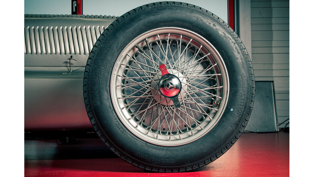 Mercedes-Benz W25, Silberpfeil, Rad, Speichenrad