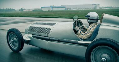 Mercedes-Benz W25, Silberpfeil, Seitenansicht