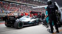 Mercedes - Boxenstopp - Formel 1 - 2019