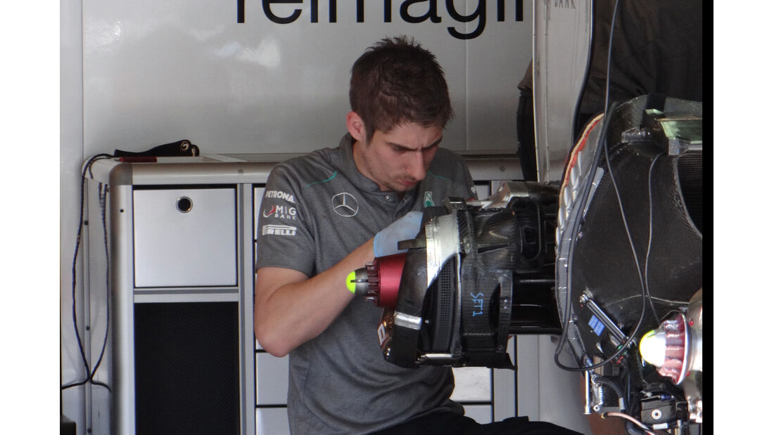 Mercedes Bresmbelüftung - Formel 1 - GP Monaco - 22. Mai 2013