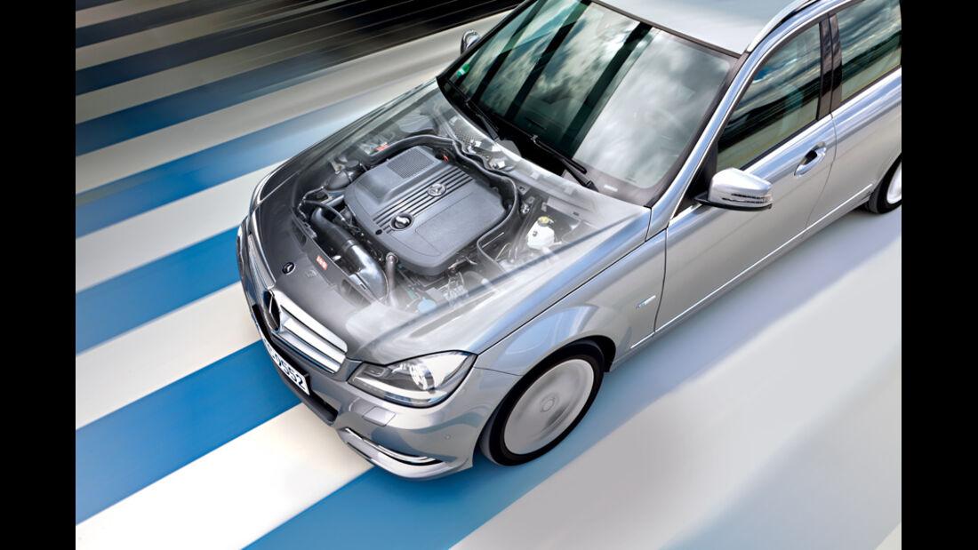 Mercedes C 180 CDI T Avantgarde, Grafik, Motor