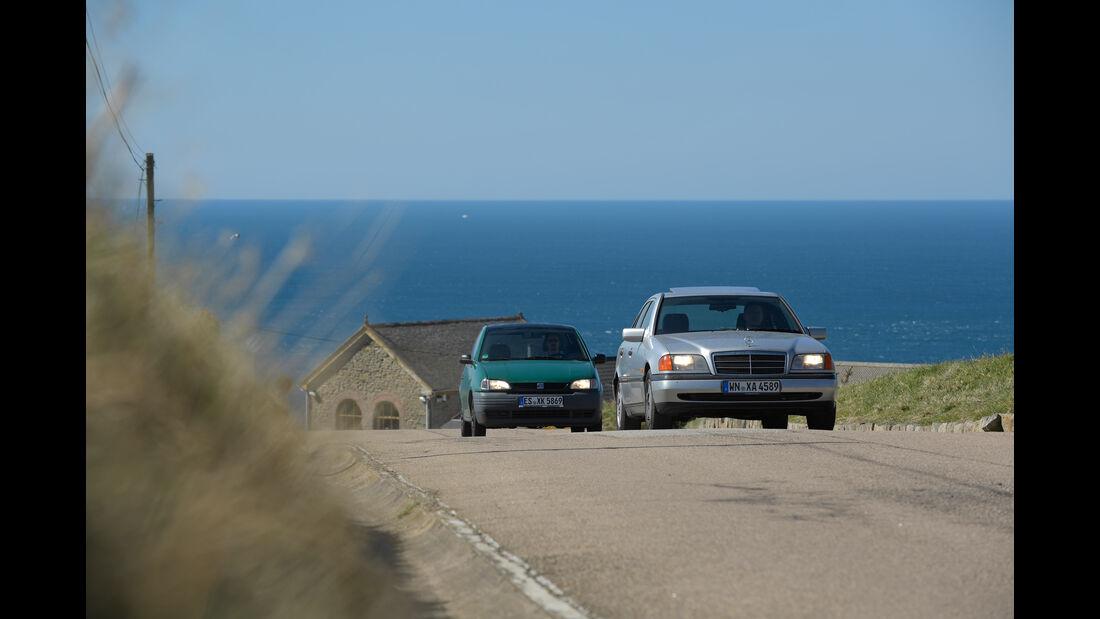 Mercedes C 180, Seat Arosa, Lans End, Reise, Impression