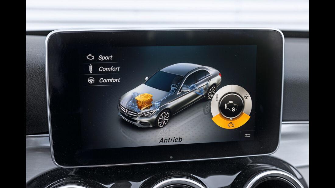 Mercedes C 200, Anzeige, Display, Fahrwerk