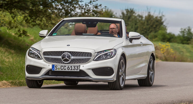mercedes c 200 cabrio im test auto motor und sport. Black Bedroom Furniture Sets. Home Design Ideas
