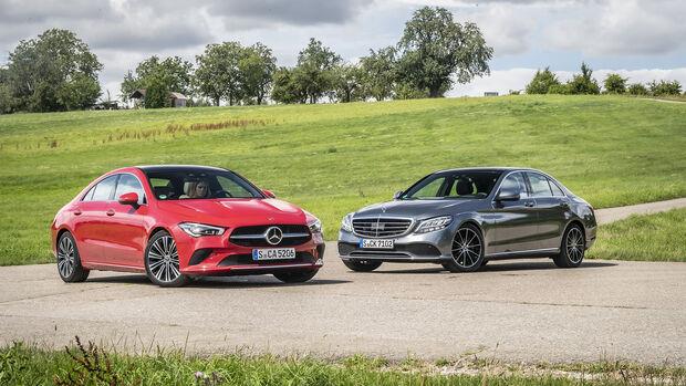 Mercedes C 200, Mercedes CLA 200, ams_2019_25, Exterieur