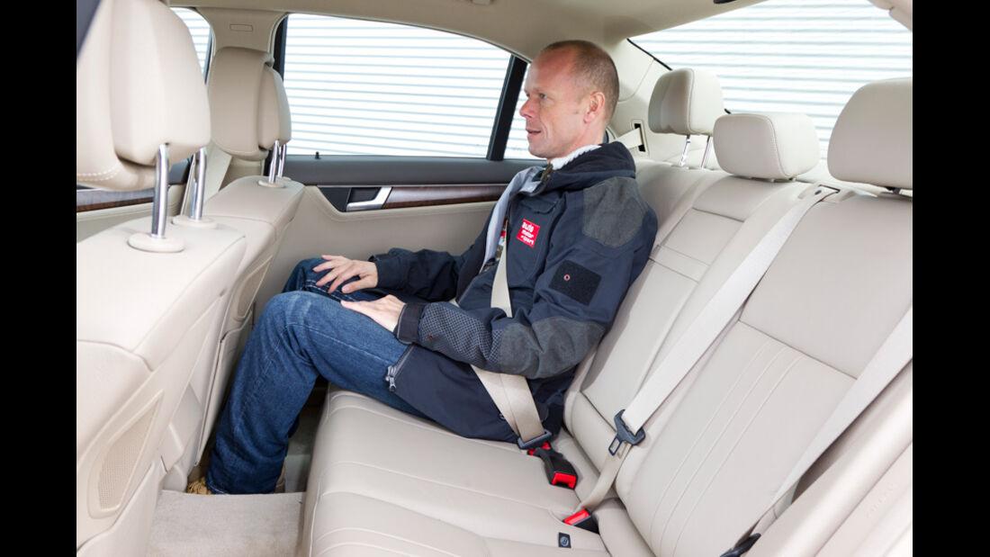 Mercedes C 200, Rückbank, Rücksitz