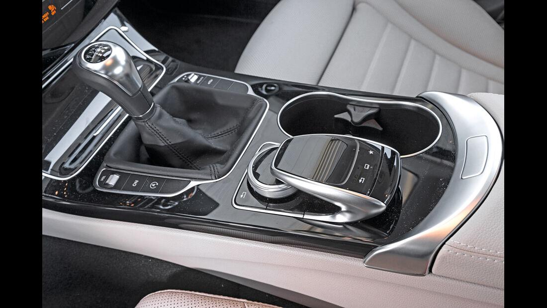 Mercedes C 200, Schalthebel, Mittelkonsole