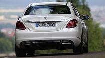 Mercedes C 220 Bluetec, Heckansicht