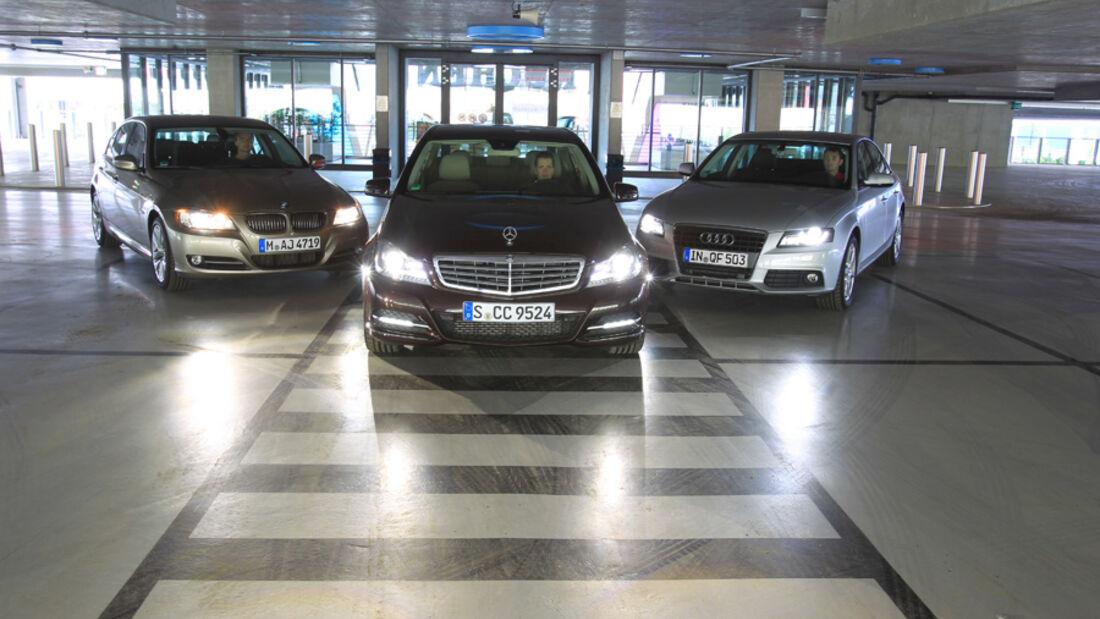 Mercedes C 220 CDI, Audi A4 2.0 TDI, BMW 320d