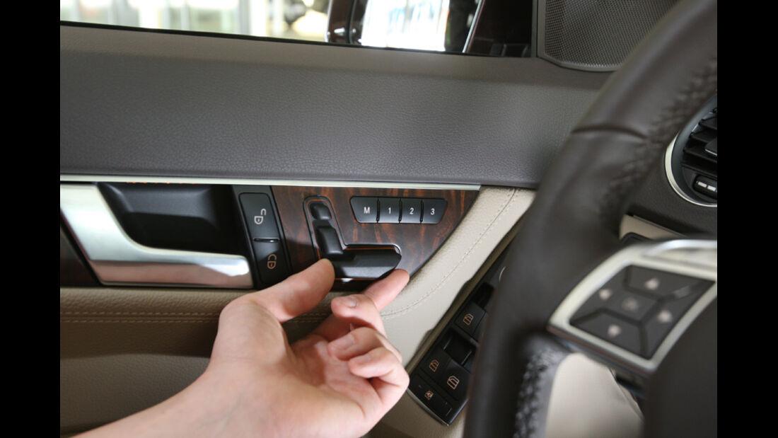 Mercedes C 220 CDI, Sitzverstellung