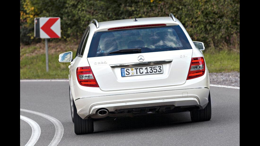 Mercedes C 220 CDI T Avantgarde, Heckansicht