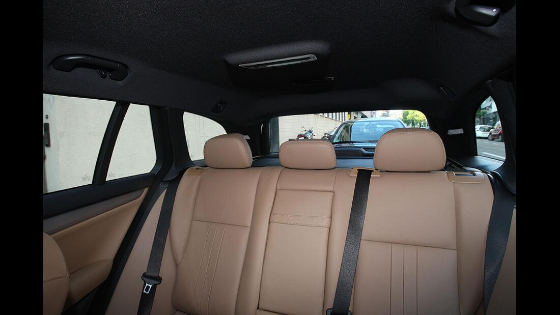 Mercedes C 250 T-Modell, Detail, Innenraum, Rückbank