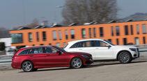 Mercedes C 250 d 4Matic T, Mercedes GLC 250 d 4Matic, Seitenansicht
