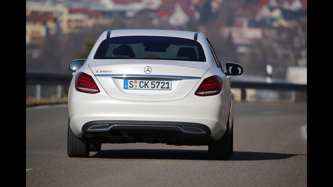 Mercedes C 250 d, Heckansicht