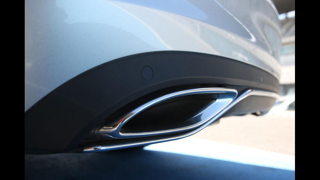 Mercedes C 350e, Auspuff, Endrohr