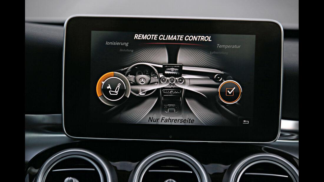 Mercedes C 350e, Bildschirm, Infotainment