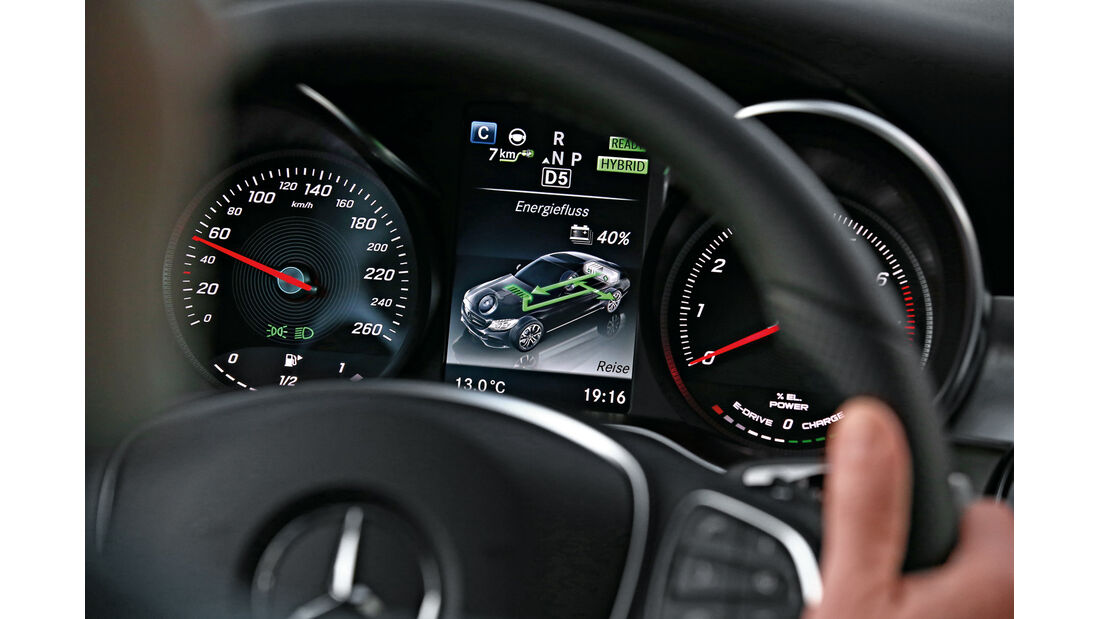 Mercedes C 350e, Rundinstrumente