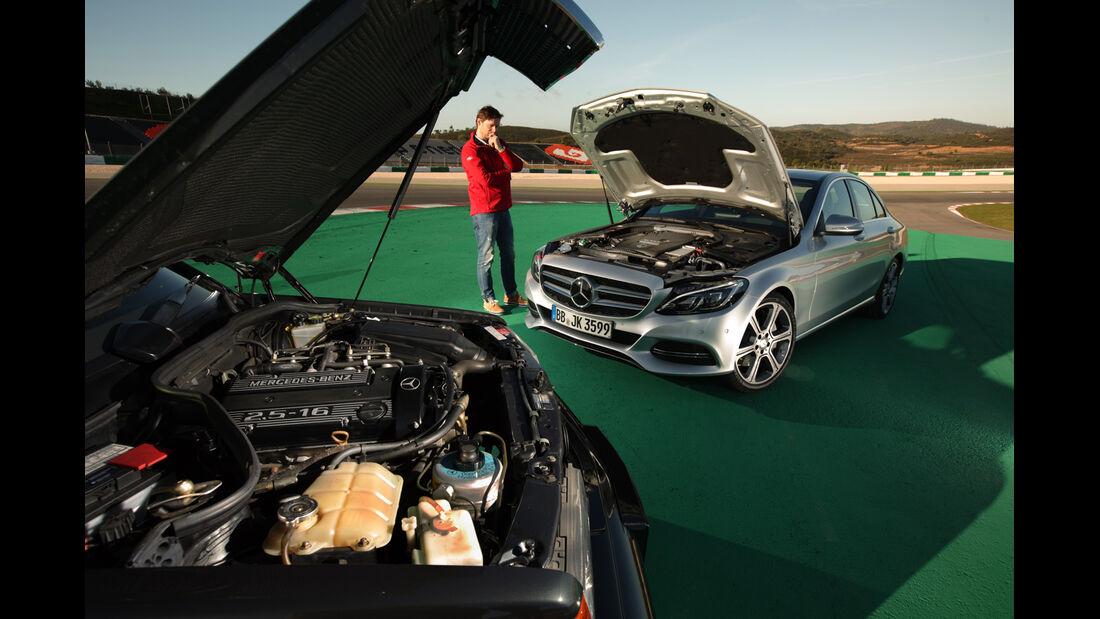 Mercedes C 350e und 190 E 2.5-16 Evo II, Motor