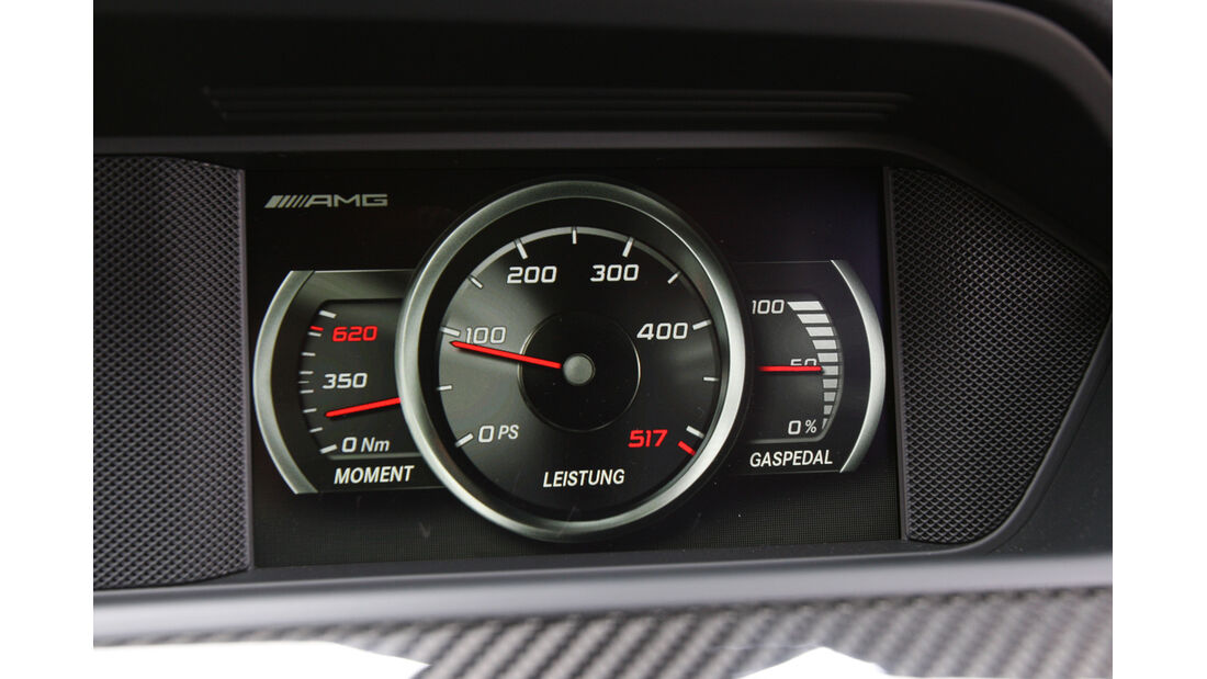 Mercedes C 63 AMG Black Series, Tacho, Rundinstrumente
