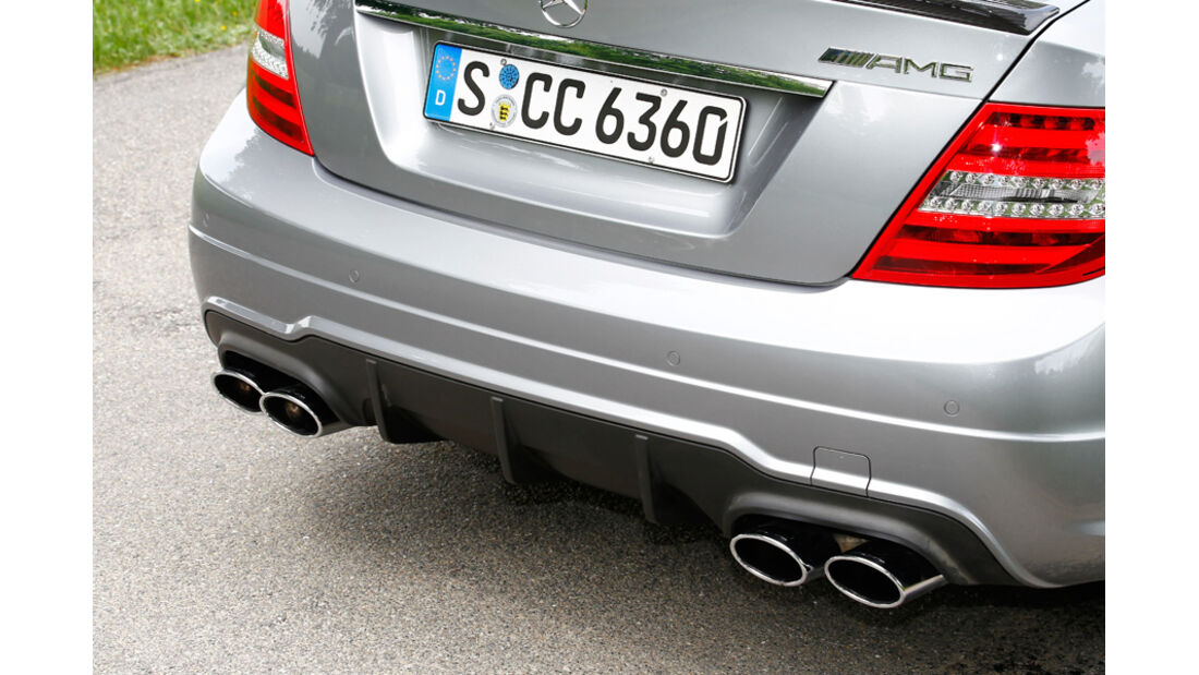 Mercedes C 63 AMG Coupe Performance Package, Heck, Auspuffanlage