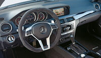 Mercedes C 63 AMG Edition 507, Cocxkpit, Lenkrad