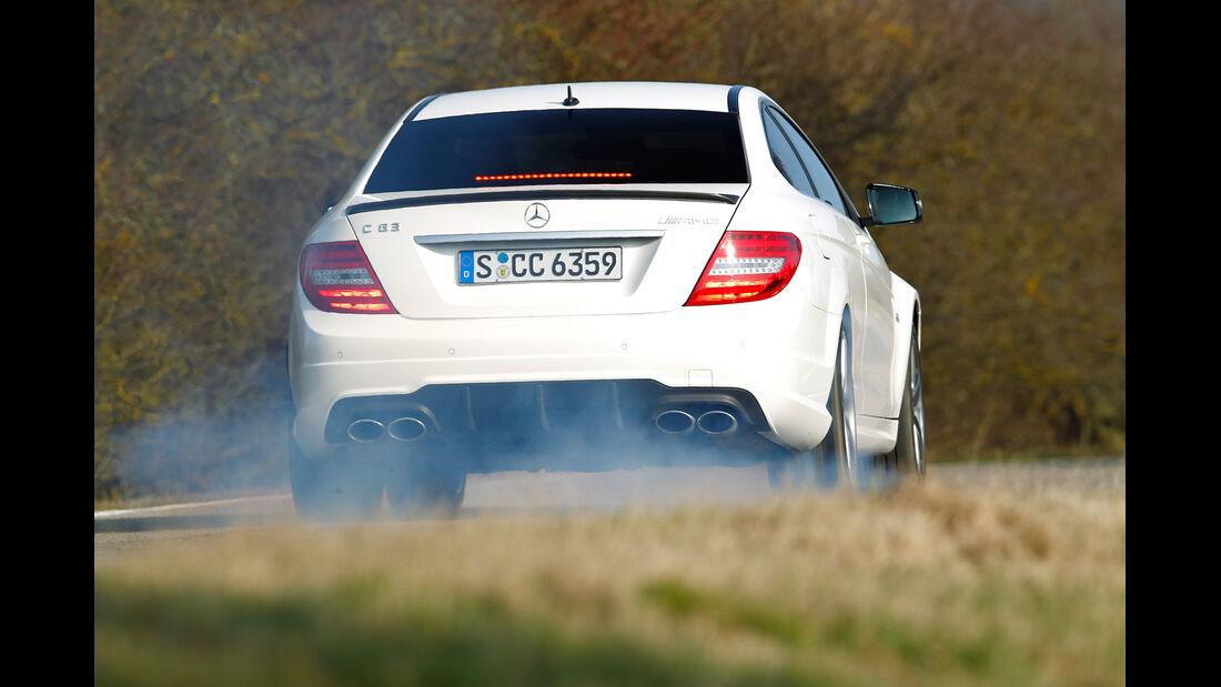 Mercedes C 63 AMG, Heckansicht