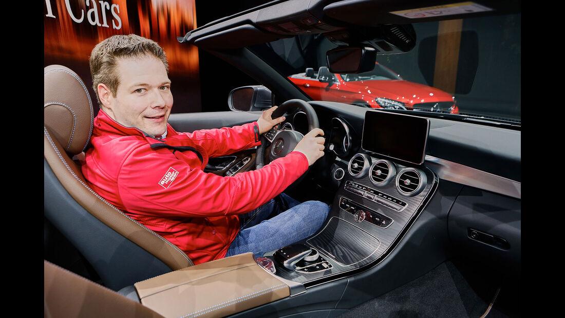 Mercedes C-Cabrio Sitzprobe Jochen Knecht