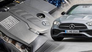 Mercedes C-Klasse 2021 Motoren Collage